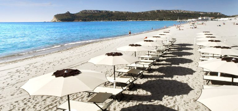 La spiaggia di Cagliari